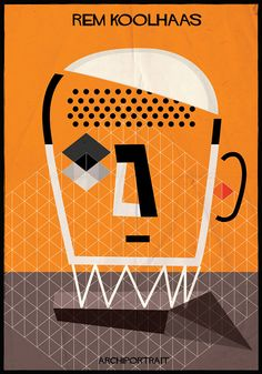Italian artist federico babina has illustrated 'archi_portrait', a series of contemporary and classic architects drawn in their particular style.
