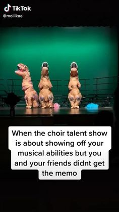 Memes Discover Best act Dinosaur choir talent show Super Funny Videos, Funny Short Videos, Funny Video Memes, Crazy Funny Memes, Really Funny Memes, Stupid Funny Memes, Funny Relatable Memes, Haha Funny, Hilarious