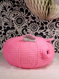 For a girls room. Hey, I found this really awesome Etsy listing at https://www.etsy.com/listing/216014478/pink-crochet-pouf-nursery-ottoman-pig