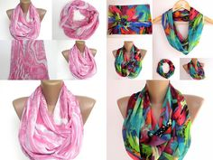 Fresh women infinity scarf TWO Eternity scarves Loop scarf by seno, $36.00