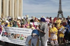 Paris : Rassemblement des Sikhs en hommage aux victimes du massacre de 1984 - Politique - via Citizenside France. Copyright : Christophe BONNET - Agence 73Bis
