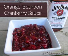 Make Ahead Orange-Bourbon Cranberry Sauce