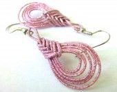Boucles d'oreilles en Mizuhiki - Goutte - 0008 : Boucles d'oreille par kami-art