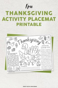 Thanksgiving Activity Printables - Free Downloads