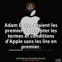 Adam Et Eve étaient les premiers à accepter les termes et conditions d'Apple sans les lire en premier. | Saviez Vous Que?