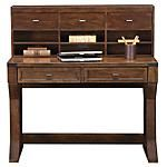 #ValueCityPinToWin Sometimes the most simple of designs is by far the most beautiful. Introducing the Montana Bedroom Group.  An American Signature® exclusive.  Includes a Limited Lifetime Warranty at no additional cost†.  This 2-piece package includes the Desk and Hutch.  Unique design allows multipurpose usage for beauty, storage or writing.  All-wood construction in an oak rubbed, 5-step finish.  Rustic old world design.  Superior craftsmanship.