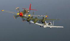 P-51 Mustang & A-10 Thunderbolt