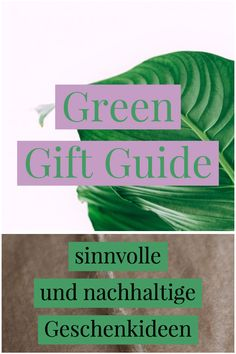 Sinnvolle und nachhaltige Ideen für Weihnachten.