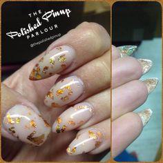 Gold flake every shape nails!