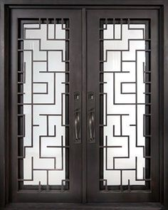 Iron Doors Unlimited Bel Sol Classic Full Lite Painted Oil Rubbed Bronze Decorative Wrought Iron Entry at The Home Depot