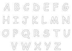 Free Patterns To Print Out  Free Printable Alphabet Stencil