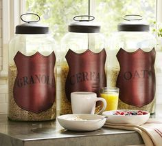Breakfast Glass Canisters | Pottery Barn