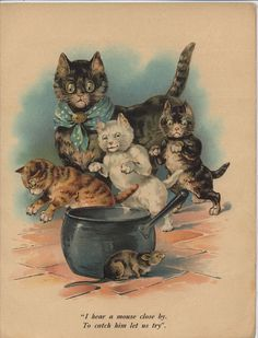 """From the Antique book """"THREE LITTLE KITTENS"""",  Raphael Tuck & Sons"""