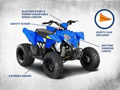 New 2015 Polaris Outlaw 50 Voodoo Blue ATVs For Sale in New York. 2015 Polaris Outlaw 50 Voodoo Blue, Visit our showroom today or call to schedule a test drive!