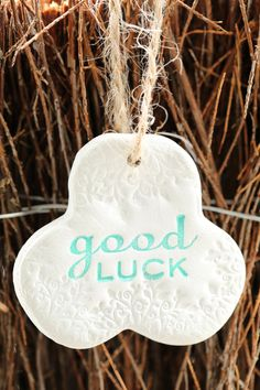Good luck charm, clay decoration by flowercraftsboutique on Etsy
