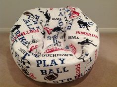 Hey, I found this really awesome Etsy listing at https://www.etsy.com/listing/158724172/bean-bag-childrens-bean-bag-boys-sports