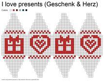 Ravelry: Julekuler - I love presents (Geschenk & Herz) pattern by Jasmin Malekpour-Augustin