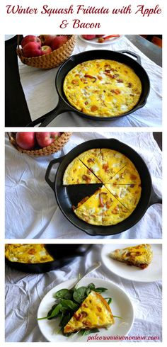 Winter Squash Frittata with Apple & Bacon - #paleo #whole30 #grainfree #dairyfree - sweet, savory, amazing!
