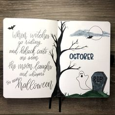 Bullet Journal First Page, Bullet Journal Cover Ideas, Bullet Journal Monthly Spread, Bullet Journal Quotes, Bullet Journal Notebook, Bullet Journal Ideas Pages, Bullet Journal Layout, Bullet Journal October Theme, Bullet Journal Entries