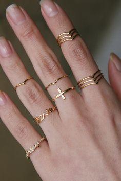 Vintage Moissanite Engagement Ring Set Yellow Gold Engagement Rings Vintage Moissanite Ring with Half Eternity Band - Fine Jewelry Ideas Diamond Jewelry, Gold Jewelry, Jewelry Rings, Gold Bracelets, Diamond Earrings, Jewelry Ideas, Fine Jewelry, Crystal Earrings, Opal Jewelry