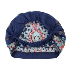 a054265d650 Women Navy Beanie Caps Ethnic Embroidery Skullcap Hat