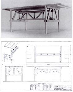 Tavolo  Design: Enzo Mari Dining Table Chairs, Table Furniture, Modern Furniture, Furniture Design, Wood Headboard, Life Design, Take A Seat, Woodworking Furniture, Enzo Mari