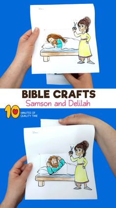 Samson and Delilah Sunday school craft Bible activities for kids Preschool Bible Lessons, Bible Activities For Kids, Bible Crafts For Kids, Bible Lessons For Kids, Group Activities, Sunday School Crafts For Kids, Bible School Crafts, Sunday School Activities, Sunday School Lessons