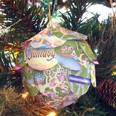 DIY Disney 12 Days of Christmas Ornaments | Park Map Pomander
