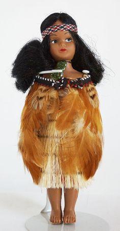 Plastic Maori New Zealand Girl Doll