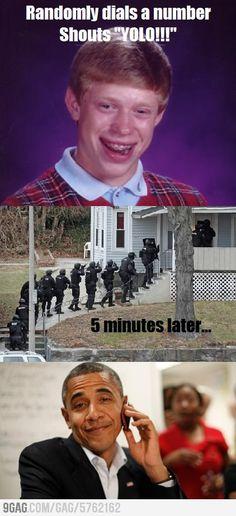 Bad Luck Brian tries random prank call
