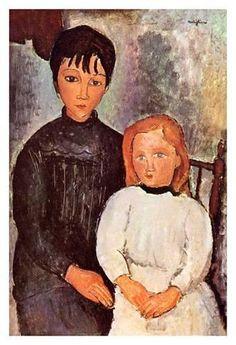 Modern art lady Two girls by Amedeo Modigliani paintings reproduction High quality Hand painted Amedeo Modigliani, Modigliani Paintings, Italian Painters, Italian Artist, Jewish Art, Painting Wallpaper, Hand Painted Canvas, Art Moderne, Art Girl