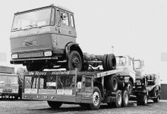 DAF Truck delivering DAF trucks.  pinned by http://FlanaganMotors.com