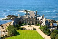 Wow...absolutely breathtaking estate!  Age Oceanfront Chateau Asks $19M in Newport. #luxury #architecture #ocean #mansion