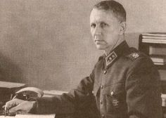 Finnish Army General Harald Öhquist at his desk, circa 1930s