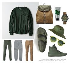 """""""Greenery for men 2.0"""" by caritoviena on Polyvore featuring American Eagle Outfitters, J.Crew, Maison Margiela, Jacob Cohёn, Balmain, V76 by Vaughn, Converse, Timex, Urban Pipeline and men's fashion"""
