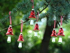 Glass Mushroom Christmas Decorations