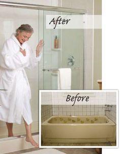 Turn Bathtub into Walk In Shower   Converting bathtub into walk in showerTurn That Bathtub Into a Shower   If you re tired of that bathtub  . Convert Tub To Walk In Shower. Home Design Ideas
