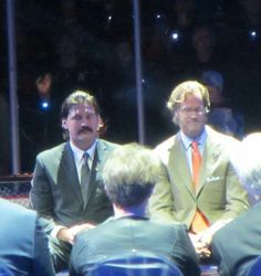 George Parros and Chris Pronger #For8verTeemu