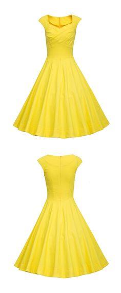 vintage dresses,50s dresses,retro dresses,rockabilly dresses,yellow dresses,