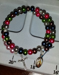Coming soon to Reconciled To You (#RTYSwag) rosary bracelets and cell phone attachments!! Here is one of our prototypes