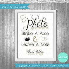 Fall Photo Guest Book Sign for Wedding by WhimsicalStationery