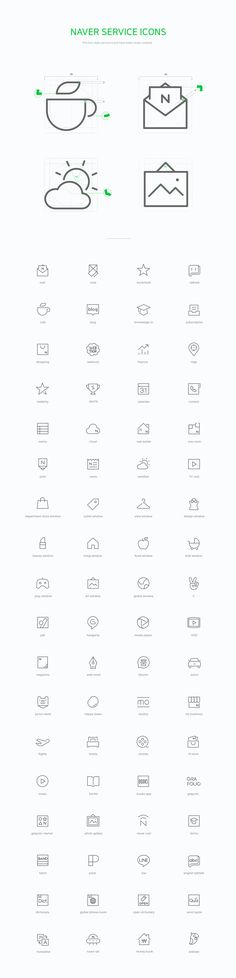 "查看此 @Behance 项目:""Naver line icon set""https://www.behance.net/gallery/46507535/Naver-line-icon-set"