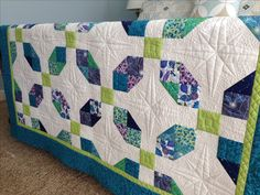 Pieced by my sister and quilted by me