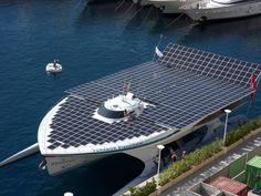 The Worlds Largest Solar Powered Boat Photos, Sea, Ocean, Navy, Awesome, Amazing, Super, Pics, Images, Technologies, Innovative #world #solar #solarboat #awesome #sea #ocean #innovative