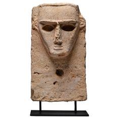 Ancient South Arabian Limestone Pillar Stele Sculpture, 3rd Century BC | From a unique collection of antique and modern sculptures at https://www.1stdibs.com/furniture/decorative-objects/sculptures/