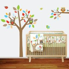 Etsy Transaction -        Childrens Wall Decal Tree and Branch Vinyl Wall Nursery Decal Owls Birds