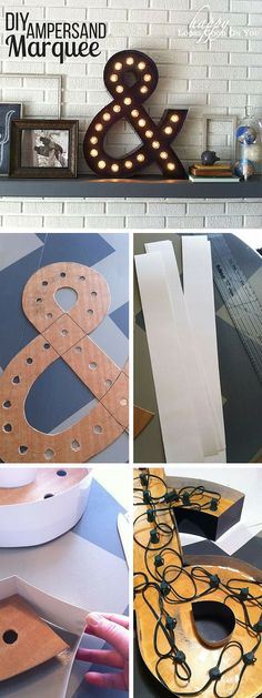 Check out the tutorial: #DIY Ampersand Marquee #crafts #decor