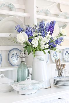 Never underestimate the power of white serving ware, like this charming pitcher from VIBEKE DESIGN.
