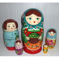 Olga with green apples #Babushka #russiandoll #matryoshka #dollsindolls #decor #traditional