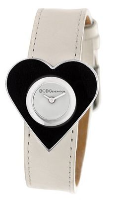 BCBGeneration Women's GL4138 Fashion Heart Shaped Case White Strap Watch BCBGeneration. $51.23. Solid and durable all alloy metal high grade case, stainless steel caseback and crown. Water-resistant to 30 M (99 feet). Japanese quartz analog 2-hand movement. Limited lifetime warranty. Genuine leather calfskin strap with solid stainless steel buckle